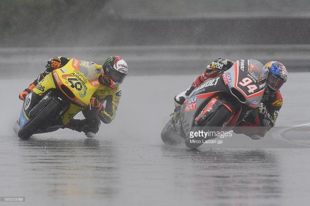 Folger fends off Rins in the wet at Brno - Getty Images