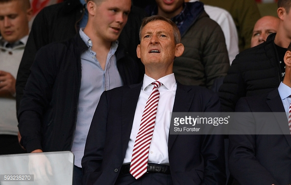 Above: Sunderland owner Ellis Short watching the 2-1 defeat to Middlesbrough | Photo: Getty Images