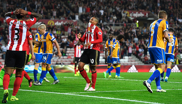 Above: Wahbi Khazri ruing his missed opportunity in Sunderland's 1-0 win over Shrewsbury Town | Photo: Getty Images