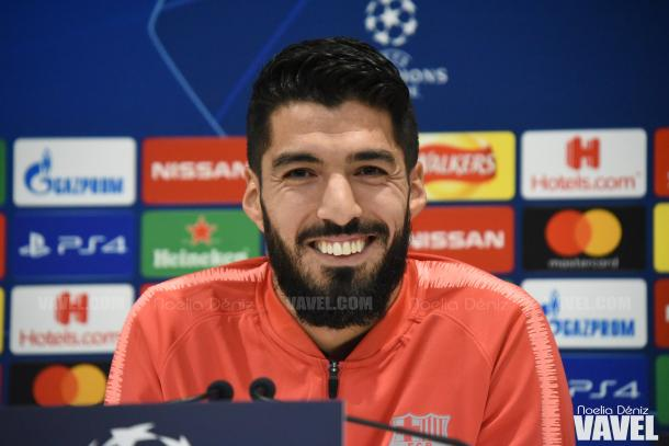 Luis Suárez en la rueda de prensa previa | Fuente: Noelia Déniz (VAVEL)