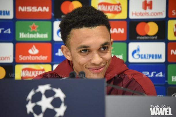 Alexander-Arnold, jugador del Liverpool. FOTO: Noelia Déniz