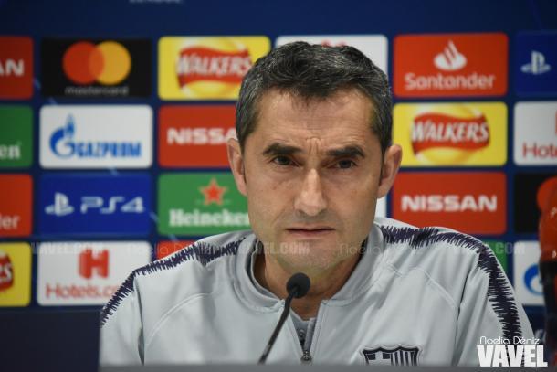 Ernesto Valverde en la rueda de prensa previa al partido | Fuente: Noelia Déniz (VAVEL)