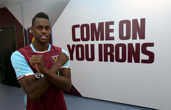 Above: Edmilison Fernandes been unveiled as a West Ham player | Photo: Getty Images