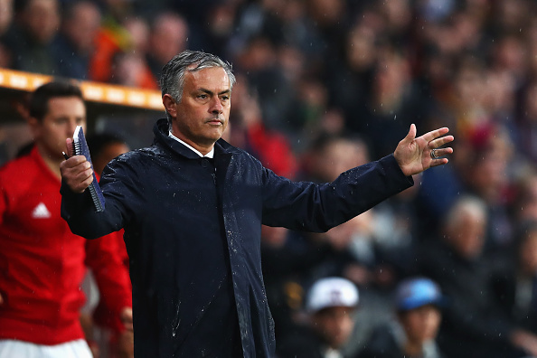 Jose Mourinho on the touchline during Manchester United's 1-0 win over Hull City | Photo: Getty Images