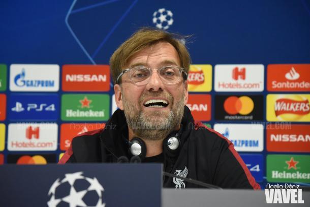 Jürgen Klopp en la rueda de prensa previa al partido | Fuente: Noelia Déniz (VAVEL)