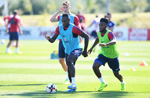 West Ham's Michail Antonio in training with the England senior side | Photo: Getty Images