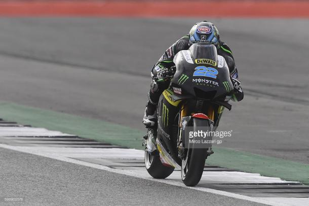 Lowes in his MotoGP debut for Monster Tech 3 Yamaha at Silverstone - Getty IMages
