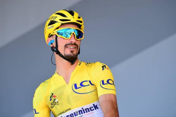 Alaphilippe recupera el maillot amarillo. | Foto: LeTour