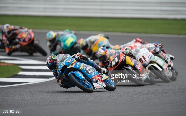Navarro worked his way to the front of the British Moto3 Silverstone | Photo: Getty Images
