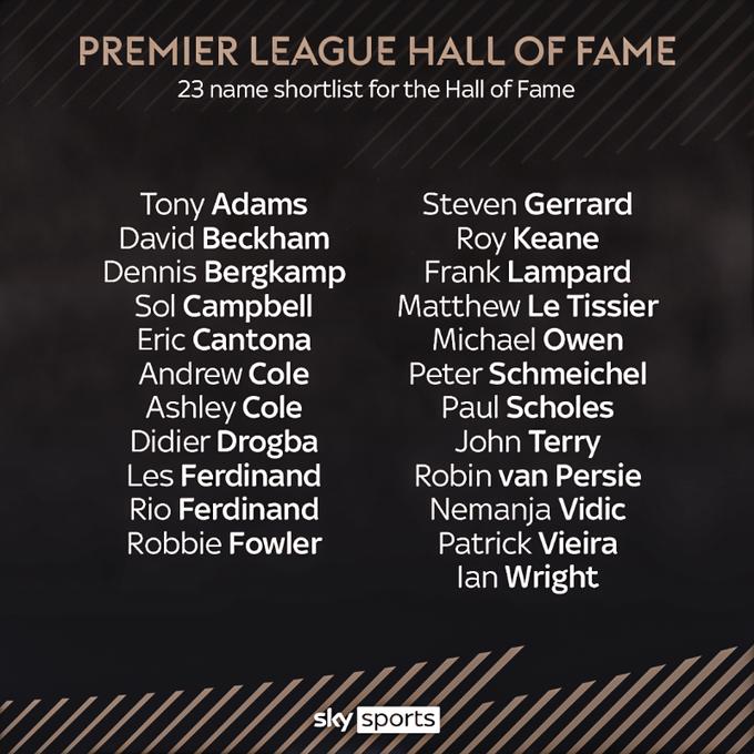 Todos los nominados al Hall of Fame / Foto: SkySports