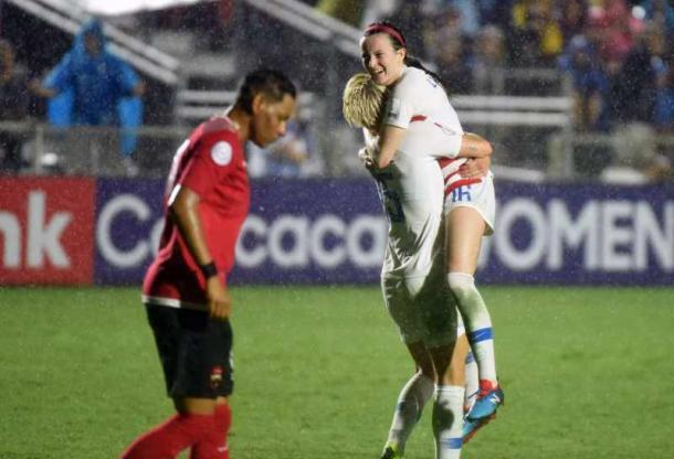 Rose Lavelle has a great game for the USWNT | Source: Rob Kinnan-USA TODAY Sports