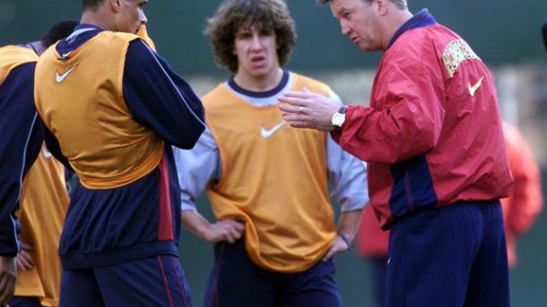 Van Gaal, Rivaldo y Puyol (foto:elcorredors)