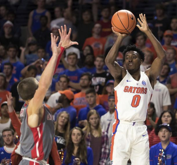 Okauru is one of several deadly shooters on Florida's team/Photo: Ron Irby/Associated Press