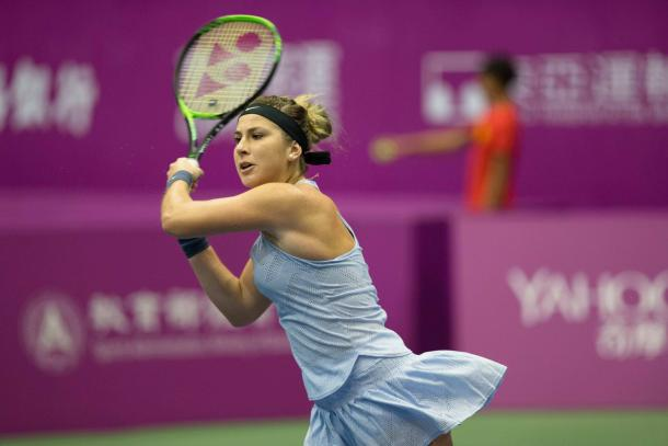 Belinda Bencic in action at the OEC Taipei WTA Challenger | Photo: OEC Taipei WTA Challenger