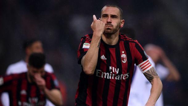 Bonucci en la celebración del único gol del partido | Foto:Gettyimages