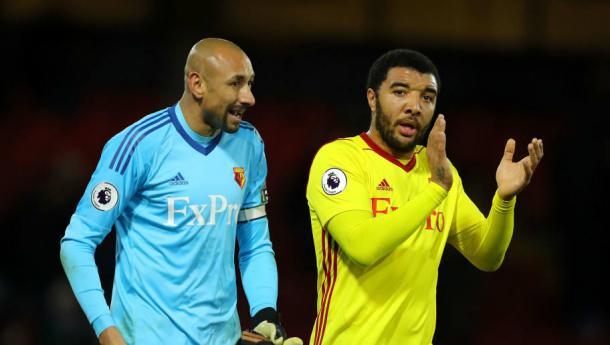 Gomes y Deeney | Foto: Watford