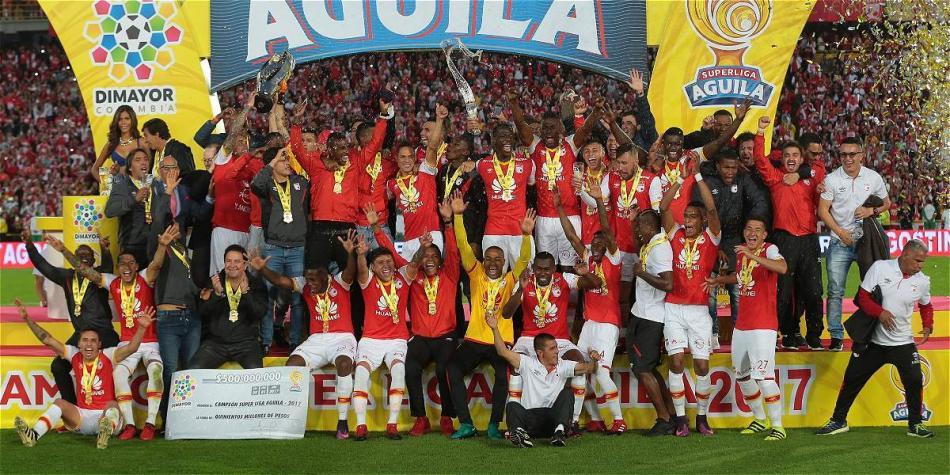 La Superliga 2017, la última vez que Santa Fe se llevó este certamen. Imagen: Futbolred.