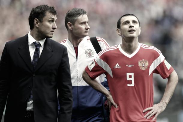 Dzagoev se retira lesionado | Fuente: rfs.ru