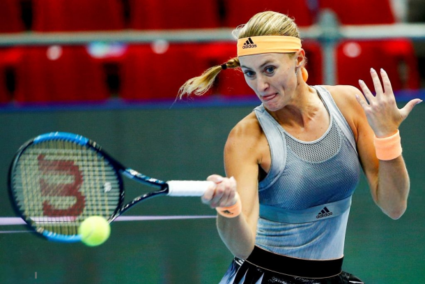 Kristina Mladenovic threatened a comeback in the second set before she gradually faltered   Photo: Sefa Karacan