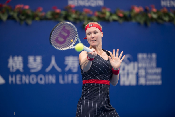 Kiki Bertens will not be disappointed with her Zhuhai result considering the circumstances | Photo: VCG