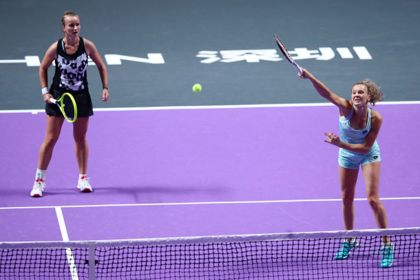 Krejcikova and Siniakova were excellent in the match | Photo: Clive Brunskill