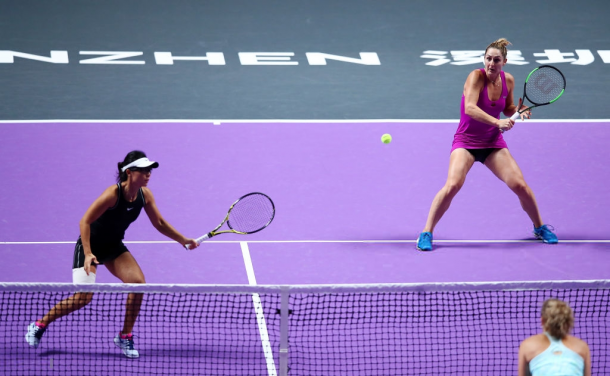 Dabrowski and Xu came into the match as the favourites | Photo: Clive Brunskill