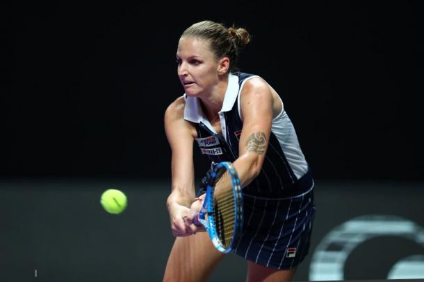 Karolina Pliskova in action | Photo: Clive Brunskill