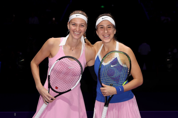 Kvitova and Bencic have met on four occasions this year, once in Melbourne, once in Dubai, and once in Beijing | Photo: Matthew Stockman