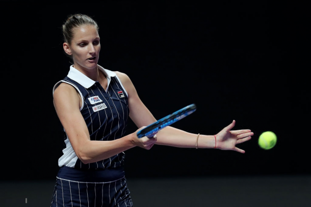 Karolina Pliskova in action | Photo: Lintao Zhang