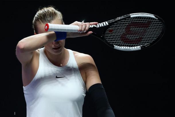 It was a disappointing tournament for Kvitova | Photo: Matthew Stockman