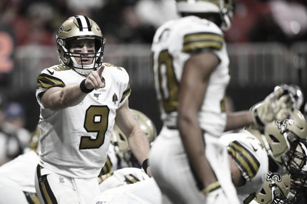 Brees completó 18/30 pases, lanzó para 184 yardas y tuvo un pase de touchdown (Imagen: Saints.com)