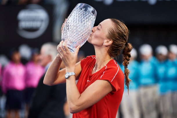 Kvitova won her first title of the year at the Sydney International, her second title here. Photo: Brett Hemmings/Getty Images.