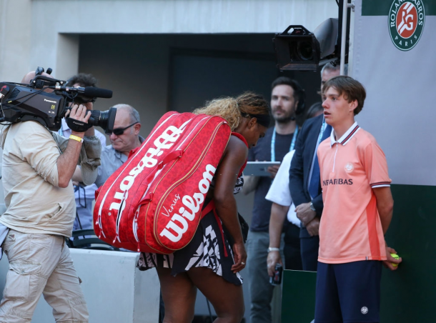 Williams sole loss in the first week of the Grand Slams came at the French Open. Photo