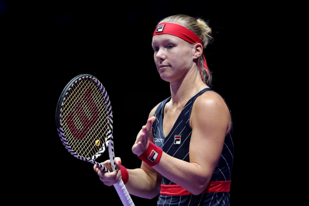 Kiki Bertens was forced to retire in her last match of the season | Photo: Lintao Zhang