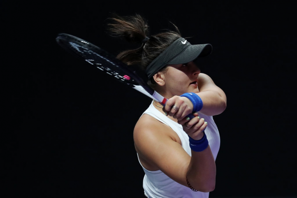 Bianca Andreescu made her debut at the WTA Finals Shenzhen this year | Photo: Lintao Zhang