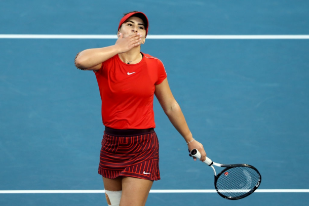 Where it all started — Bianca Andreescu reached the final of the ASB Classic after qualifying for the main draw ranked 152nd | Photo: Hannah Peters
