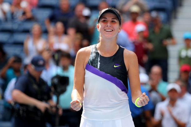 Belinda Bencic reached her first career Grand Slam semifinal at the US Open, defeating the likes of Osaka en route | Photo: Mike Stobe