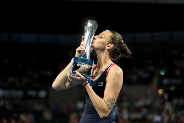 Pliskova kicked off the year with a bang, winning her second title in Brisbane. Photo: Chris Hyde/Getty Images.