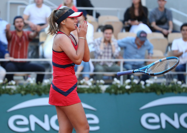 Sofia Kenin received international recognition after defeating Serena Williams in the third round of the French Open | Photo: Jean Catuffe