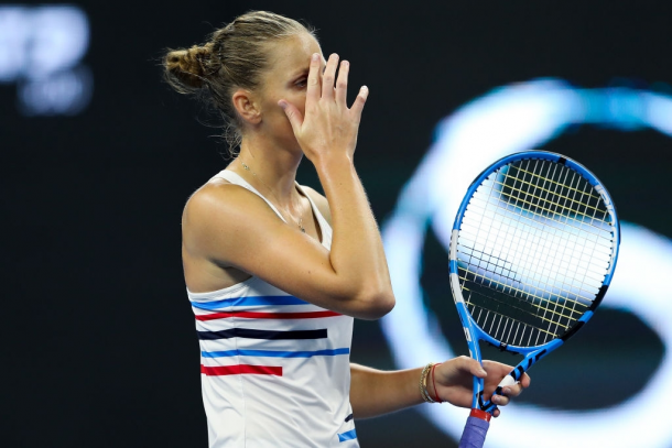 The China Open was the site of Pliskova's sole loss in the opening round of a tournament this year as she fell to Jelena Ostapenko in three sets. Photo: Lintao Zhang/Getty Images.