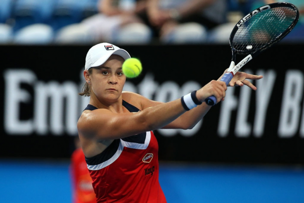 Top seed Barty will be having home support behind her as she seeks a good result in Brisbane. Photo: Paul Kane/Getty Images.