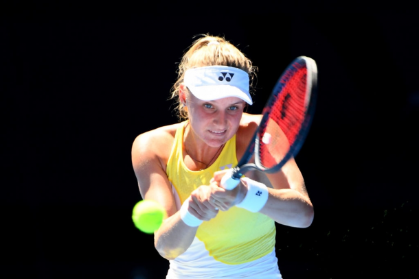 Yastremska is looking for a good start to 2020 after a solid 2019 season . Photo:Quinn Rooney/Getty Images.