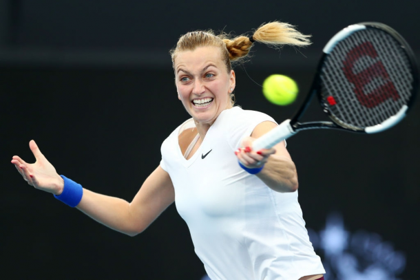 Kvitova is eyeing a spot in her second Brisbane final, her fifth on Australian soil. Photo: Chris Hyde/Getty Images.