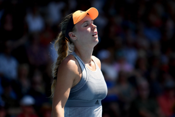 Caroline Wozniacki completely lost her rhythm in the decider | Photo: Hannah Peters
