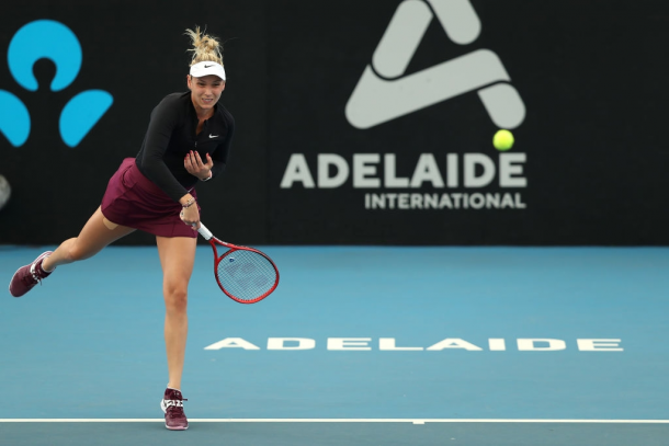 Donna Vekic in action at the Adelaide International | Photo: Paul Kane