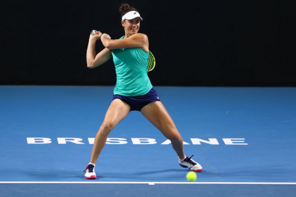 Jennifer Brady was excellent in Brisbane, where she reached the quarterfinals | Photo: Chris Hyde