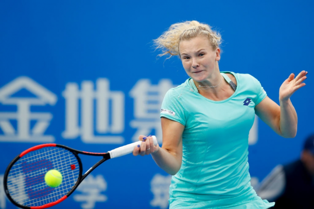 Siniakova is looking to become the first Czech not named Pliskova to beat Kvitova since May 2012. Photo: Wu Zhizhao/Getty Images.