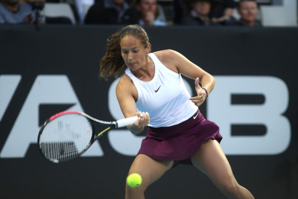 Daria Kasatkina in action at the ASB Classic | Photo: Phil Walter