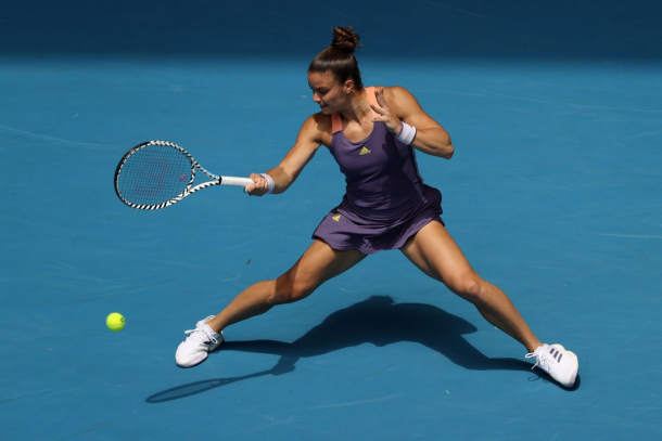 Maria Sakkari enjoyed the better start into the match | Photo: Clive Brunskill