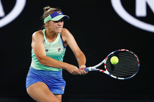 Sofia Kenin in action at the Australian Open | Photo: Daniel Pockett